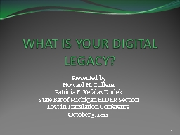 WHAT IS YOUR DIGITAL LEGACY?