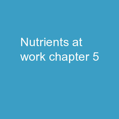 Nutrients at Work Chapter 5 PowerPoint PPT Presentation