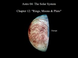 Astro 04: The Solar System