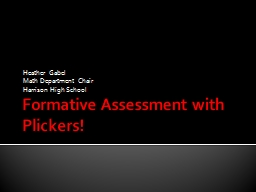 Formative Assessment with