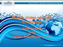 Mobile Video and the Enterprise