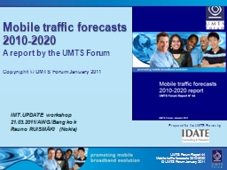 Mobile traffic forecasts