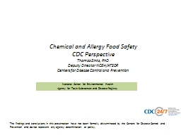 Chemical and Allergy Food Safety