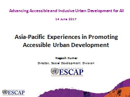 Asia-Pacific Experiences in Promoting Accessible Urban Development