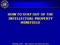 How to Stay out of the intellectual property Minefield
