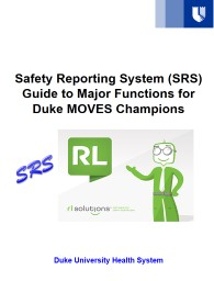 Safety Reporting System (SRS)