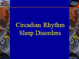 Circadian  Rhythm  Sleep