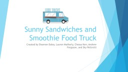 Sunny Sandwiches and Smoothie Food Truck