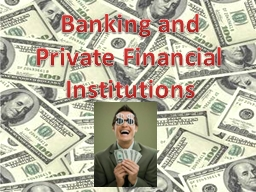 Banking and  Private Financial