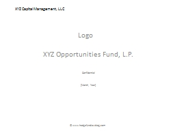 XYZ Capital Management, LLC