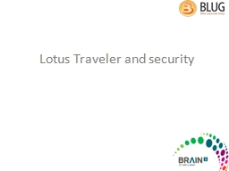 Lotus Traveler and security
