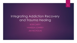 Integrating Addiction Recovery