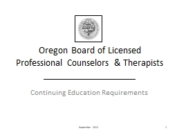 Oregon  Board of Licensed