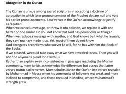 Abrogation in the Qur'an