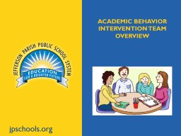jpschools.org Academic Behavior intervention team