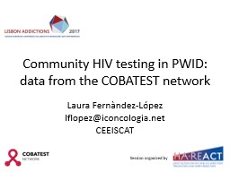 Community HIV testing in PWID: data from the COBATEST network