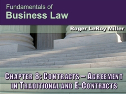 Chapter 8: Contracts � Agreement