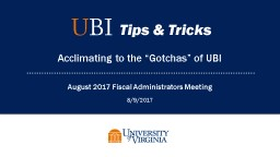 August 2017 Fiscal Administrators Meeting