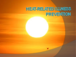 Heat-Related Illness Prevention