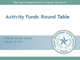 Activity Funds Round Table PowerPoint PPT Presentation