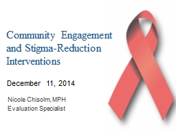 Community Engagement and Stigma-Reduction Interventions