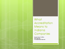 What Accreditation Means to Indiana Companies