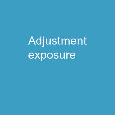 adjustment   exposure