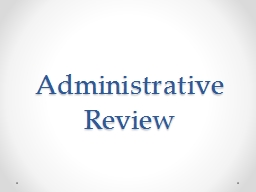 Administrative Review Reinvention Goals PowerPoint PPT Presentation