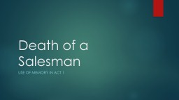 Death of a Salesman Use of