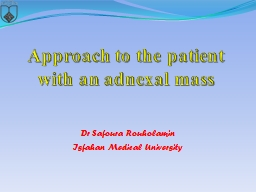 Approach to the patient with an adnexal mass