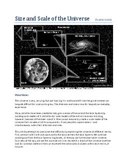 Size and Scale of the Universe Teacher Guide