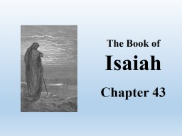 The Book of Isaiah Chapter 43