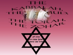 The Kabbalah, The Talmud, PowerPoint PPT Presentation