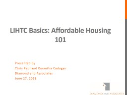 LIHTC Basics: Affordable Housing 101