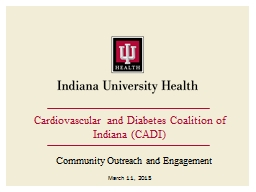Cardiovascular and Diabetes Coalition of Indiana (CADI