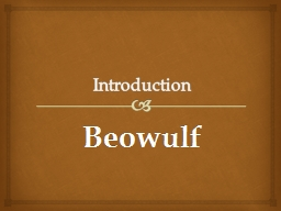 Introduction Beowulf Author