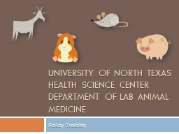 University of North Texas Health Science Center Department of lab animal medicine