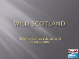 WILD SCOTLAND Helping your guests go wild