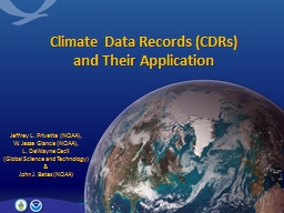 Climate Data Records (CDRs)