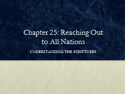 Chapter 25: Reaching Out