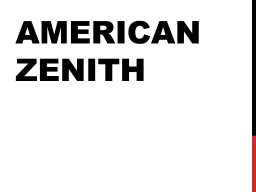 American Zenith Culture of the 1950s