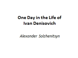 One Day in  the Life of