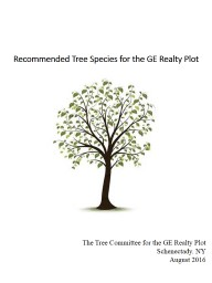 Recommended Tree Species for the GE Realty Plot