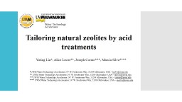 Tailoring natural zeolites by acid treatments