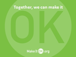 Together, we can make it