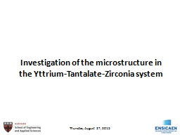 Investigation of the microstructure in the Yttrium-