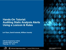 Hands-On Tutorial :  Auditing