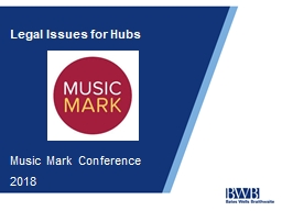 Legal Issues for Hubs Music Mark Conference