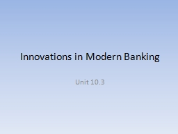 Innovations in Modern Banking