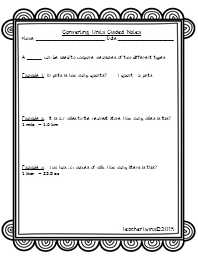 Converting Units Guided Notes